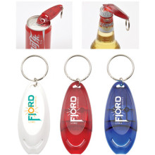Promotional Custom Plastic Bottle Opener With Keyring